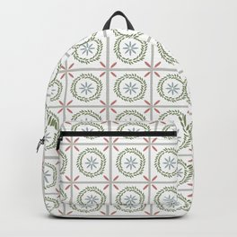 Farmhouse Floral Tile Backpack