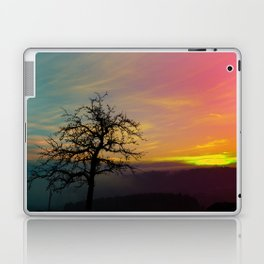 Old tree and colorful sundown panorama | landscape photography Laptop & iPad Skin