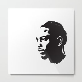 Kendrick Lamar, Pop-Art Black-and-White Metal Print
