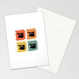 Sloth Animal Retro Pop Art Gift Idea Stationery Cards
