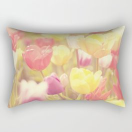 life isn't a tiptoe through the tulips ... Rectangular Pillow