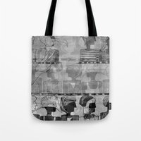 triangle Tote Bags featuring triangle by Katekima