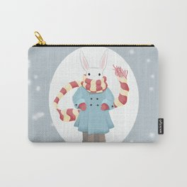 Bunny Brother Out On A Winter Day Carry-All Pouch