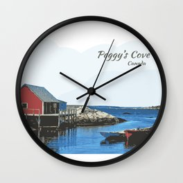 Peggy's Cove Art Nova Scotia Canada Wall Clock