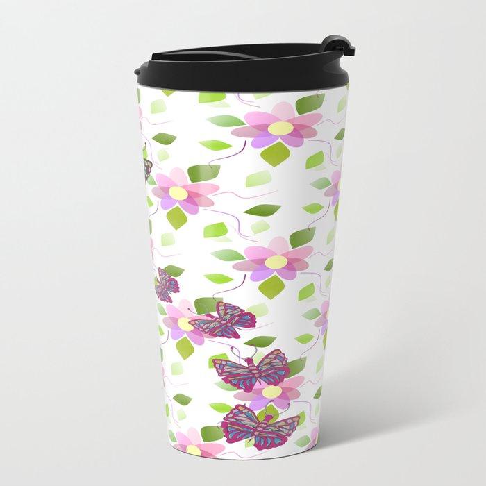 Heavenly Botanical Metal Travel Mug