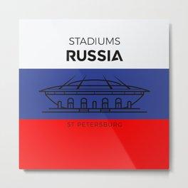 Russia Stadiuns   St. Petersburg Metal Print