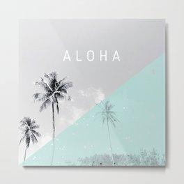 Island vibes retro - Aloha Metal Print