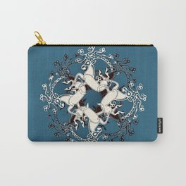 Celtic or Viking Deer Pattern - Teal Carry-All Pouch