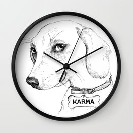 Karma is a b*tch Wall Clock