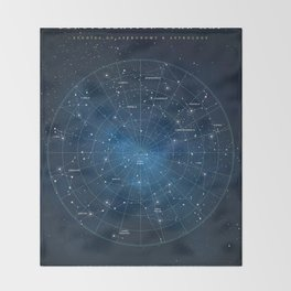 Constellation Star Map Throw Blanket