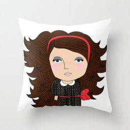 Mss Freckles Throw Pillow