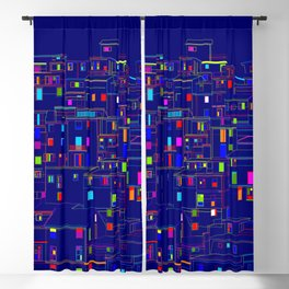 Blue City - Manarola, Italy Blackout Curtain