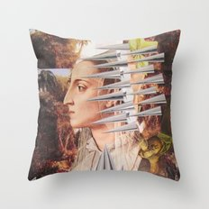 Laura The Iron Maiden Throw Pillow