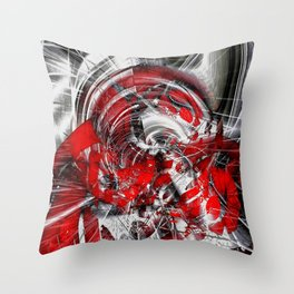 Blind in the storm Throw Pillow