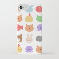 stickers iPhone & iPod Cases featuring Animal Stickers by xiuen