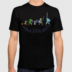 The Evolution of Link Black MEDIUM Mens Fitted Tee