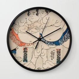 Utagawa Kuniyoshi - Battle Wall Clock
