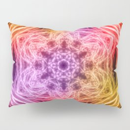 glowing rainbow kaleidoscopes Pillow Sham