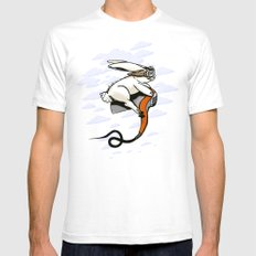 Hare Dryer Flyer Mens Fitted Tee SMALL White