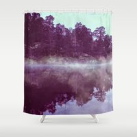 lake Shower Curtains featuring Lake by 83 Oranges™