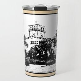 Santa Barbara Courthouse Pillow Travel Mug