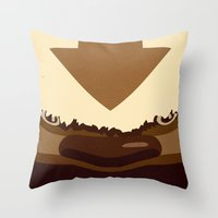 appa Throw Pillows featuring Sky Bison by sophistry