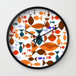 Red Fishes Wall Clock