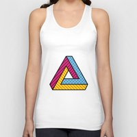 70s Tank Tops featuring 70s Abstract Penrose by Makar Deku