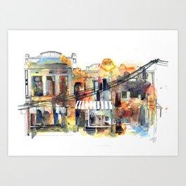 Brunswick Street Melbourne Art Print