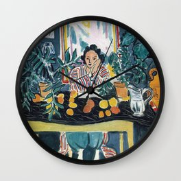 Interior with Etruscan Vase - Henri Matisse - Exhibition Poster Wall Clock