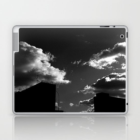 The Clouds above-Monochrome version Laptop & iPad Skin