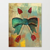 bow Canvas Prints featuring Bow by Kerri Swayze