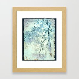 Abstract Trees snow covered Framed Art Print