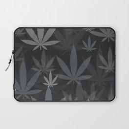 Marijuana Cannabis Weed Pot Grey Tones Laptop Sleeve