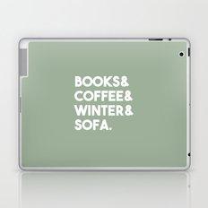 Books, coffee, winter, sofa Laptop & iPad Skin