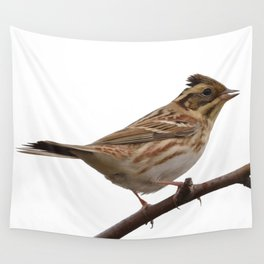 Rustic Bunting Bird Vector Isolated Wall Tapestry