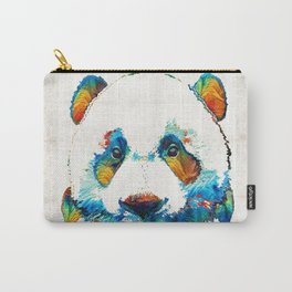 Colorful Panda Bear Art By Sharon Cummings Carry-All Pouch