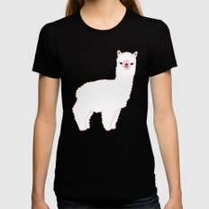 The Alpacas II MEDIUM Womens Fitted Tee Black