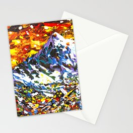 Colorful Mountain Village Stationery Cards