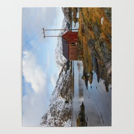 The Red Shed Panorama Poster