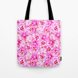 Watercolor Bouquet in Rose Red Pink Tote Bag
