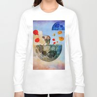 sia Long Sleeve T-shirts featuring The gardener of the moon by Joe Ganech