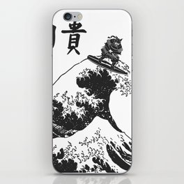 Samurai Surfing The Great Wave off Kanagawa iPhone Skin