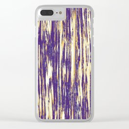 Ikat Streaks in Royal Gold Clear iPhone Case