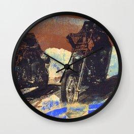 easy rider silkscreen brown Wall Clock