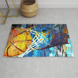 Basketball art swoosh 102 Rug