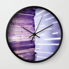 Sun through a fence in winter, Montreal Wall Clock
