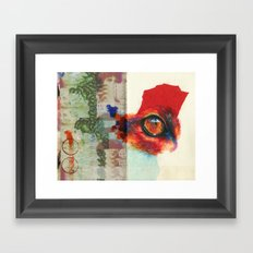 fox eye Framed Art Print