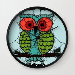 Curiosity Never Killed an Owl Wall Clock