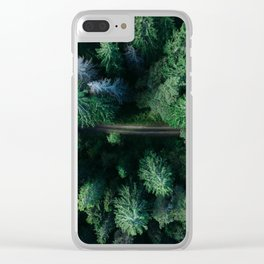 forest, aerial view Clear iPhone Case